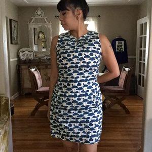 SM Wardrobe Blue Mushroom Print Shift Dress